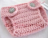 Diaper Cover, Newborn, Baby, Baby Girl, Infant, Pink, Spring, Crochet, Photo Prop, Newborn Photos