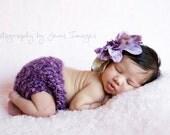 ON SALE/Purple Dahlia Bridal hair clip