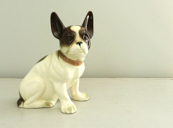 Vintage Boston Terrier Dog Figurine Made in Germany