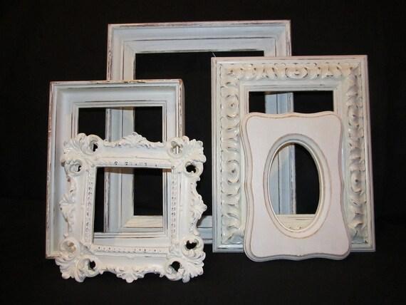 Five Ornate Shabby Chic Open Frames