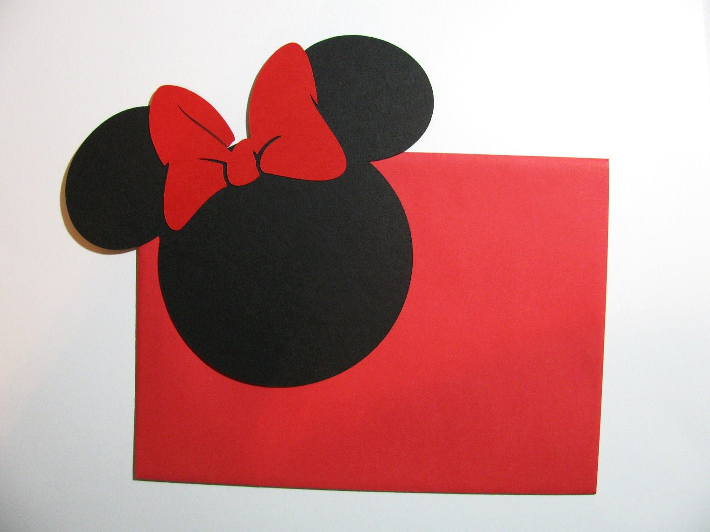 DIY Invitation Kit 40 pack 5 Minnie Mouse by cuttingupintexas