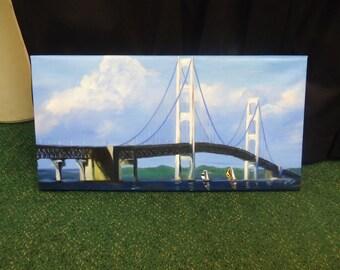Mackinac Bridge Painting