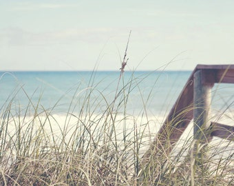 Florida Beach Photography - Beach Cottage Decor - Fine Art Photograph - Landscape Photography - White Aqua Blue Home Decor
