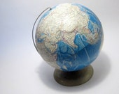 International Globe Vitnage USSR Globe Back to School For the Classroom  Photo Prop 1986