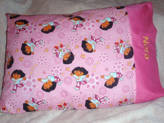 Personalized Dora the Explorer Toddler/Travel sized Pillowcase