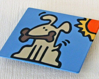 Dog Metal Magnet