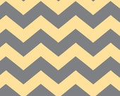 CUSTOM ORDER for Emily - Gray/Yellow Chevron