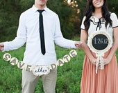 Save The Date Banner & Chalkboard Pick