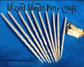 10 DIY Wizard or Fairy Wands Craft for Parties Plus Tags & Digital Book