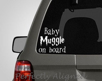 Harry Potter Inspired Baby Muggle Car Decal