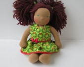 Handmade Doll Clothes - Christmas Dress - Fits Bitty Baby, Baby Alive & Waldorf Dolls