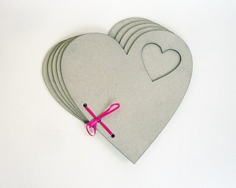 HEART-2 Chipboard Album (10 pages) - Valentines Day
