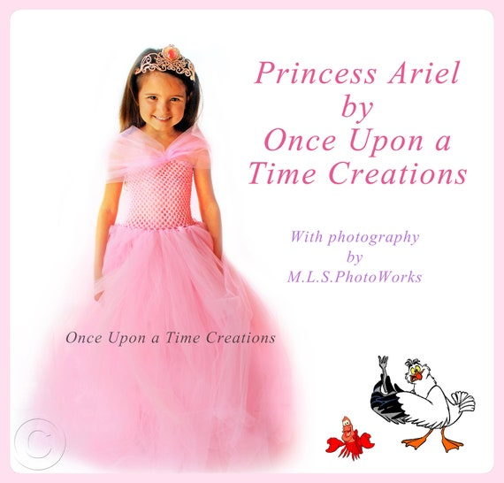 The Little Mermaid Inspired Princess Tutu Dress - Pink Birthday Outfit, Halloween Costume - 12M 2T 3T 4T 5T - Disney Ariel Land Inspired