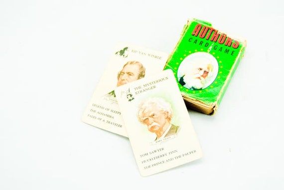 Old Deck of Classic Authors Card Game in Box Complete