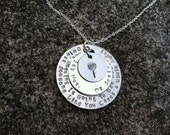 "Dr. Seuss LORAX inspired ""unless someone cares a whole awful lot..."" quote handstamped necklace - GoldfishInspirations"