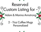 Reserved for - Adam & Marina Armstrong