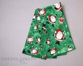 Santa Claus Napkins, Christmas Napkins, Jolly Santa Napkins, Set of 4 Napkins