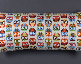 Cushion pillow with owls october finds vintage finds retro 50's