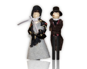 Jane Eyre Clothespin Doll Ornament Kit: Jane Eyre and Mr Rochester
