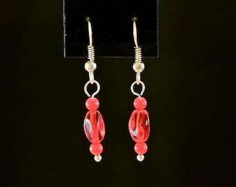A Little Red Drop Earrings