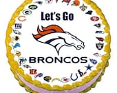 NFL Football-Any team/player -  8 inch round cake topper