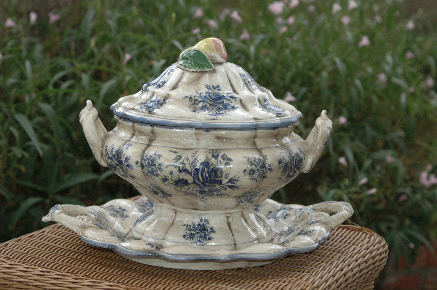 Reserved Vintage Capodimonte Soup Tureen By Goodwillhunting1