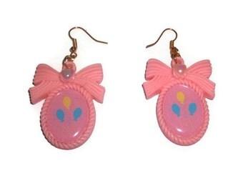 Cutie Mark Earrings, Kawaii Pinkie Pie My Little Pony Cameo Earrings, Friendship Is Magic