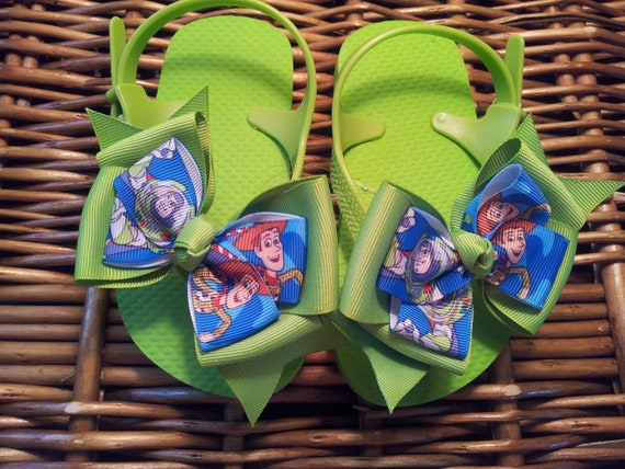 Toy Story Buzz and Woody Flip Flop Sandals - Toddler Size 7/8