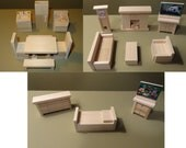 Wooden Dollhouse Furniture Hand Crafted 2012