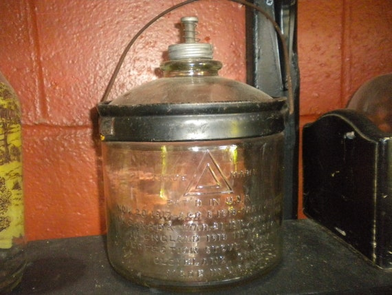 Vintage Kerosene Bottle,Primitive,Country,French country,Eclectic
