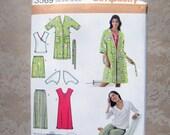 Simplicity 3569 Nightgown Top Pants Shorts Robe Knit Shrug DIY
