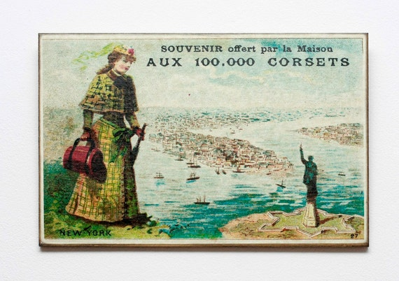 """Retro Wood Wall Art 8x12"""" 20x30 cm, French Table, Paris, Retro Advert, Wall Hanger, Art Deco Room Decor, Shabby chic, Coffee decor"""