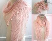 Pink lace Scarf Women Scarf Most Popular Shops Most Popular Item Womens Fashion  - By PIYOYO