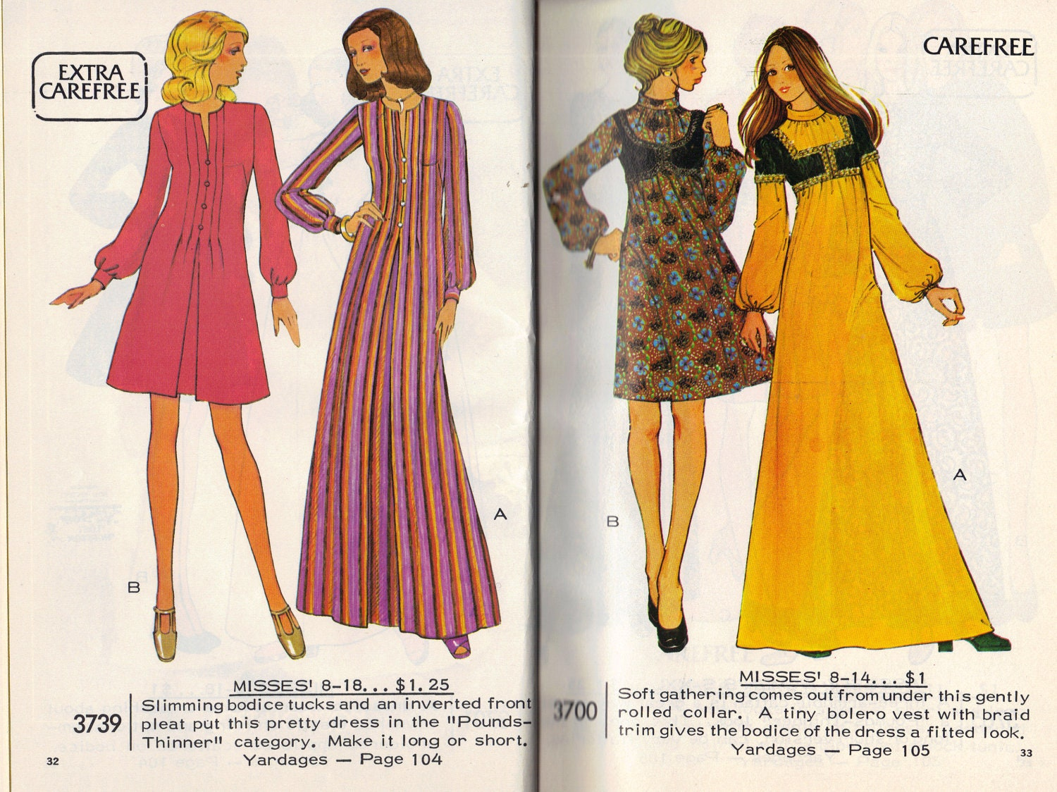 3739 and 3700 - vintage McCall's patterns inspired by Lost Horizon