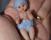 OOAK Miniature Polymer clay baby