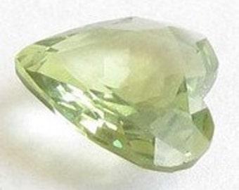 Genuine Green Sapphire, Africa, Heart Shape 7.2x6.5x2.5mm, 0.90 carat