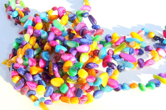 Full strand MOP Polished Chip Beads