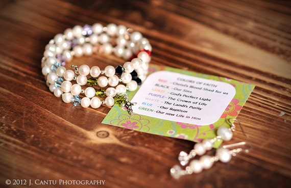 COLORS OF FAITH Cuff Bracelet & Earrings, Pearls, Swarovsky Crystals