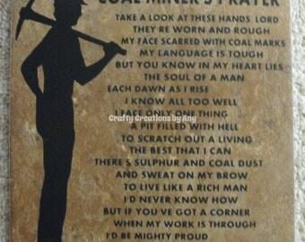 Coal Miner's Prayer Decorative Tile