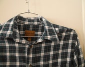grunge plaid overszied flannel button up shirt