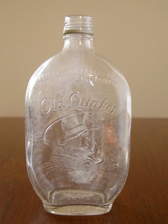 items similar to 1 vintage old quaker bottle on etsy