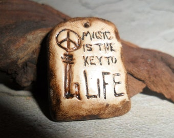 Music is the key to Life Pendant