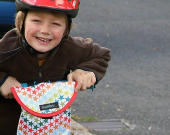 Stars Handlebar Bag, bike bag, scooter bag by Suzielou textiles, child's gift