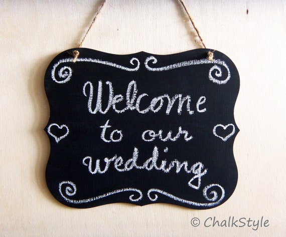Chalkboard Scroll Wedding Wooden Chalk Board Wedding Sign Photo Prop Menu Table Centerpiece Chair SIgn