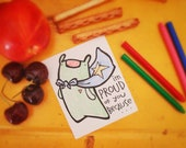 Back to School LUNCH BOX NOTES color your own blank mini cards for students gifts and everyday set of 30 by might