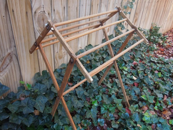 vintage laundry rack vintage drying rack laundry by