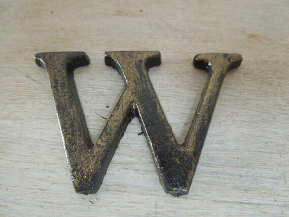 vintage iron letters alphabet initials cast iron letters
