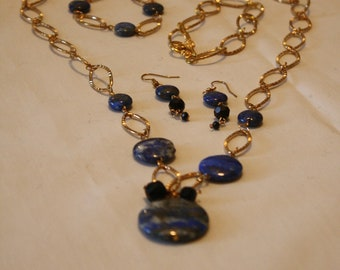 Blue Lapis Jewelry Set