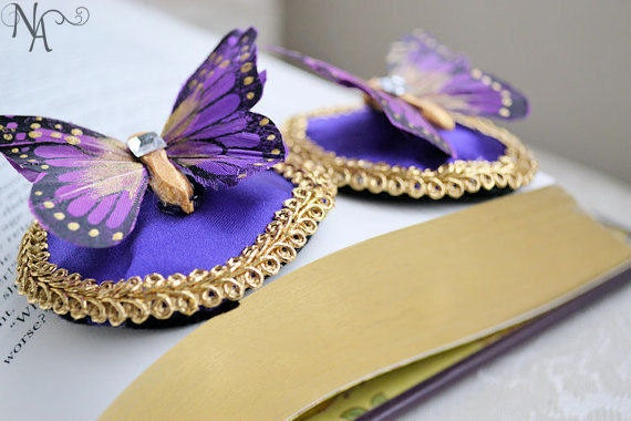 Purple Butterfly Feather Pasties- Made to Order
