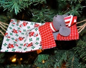 Mouse in Hammock Ornament Sewing Pattern